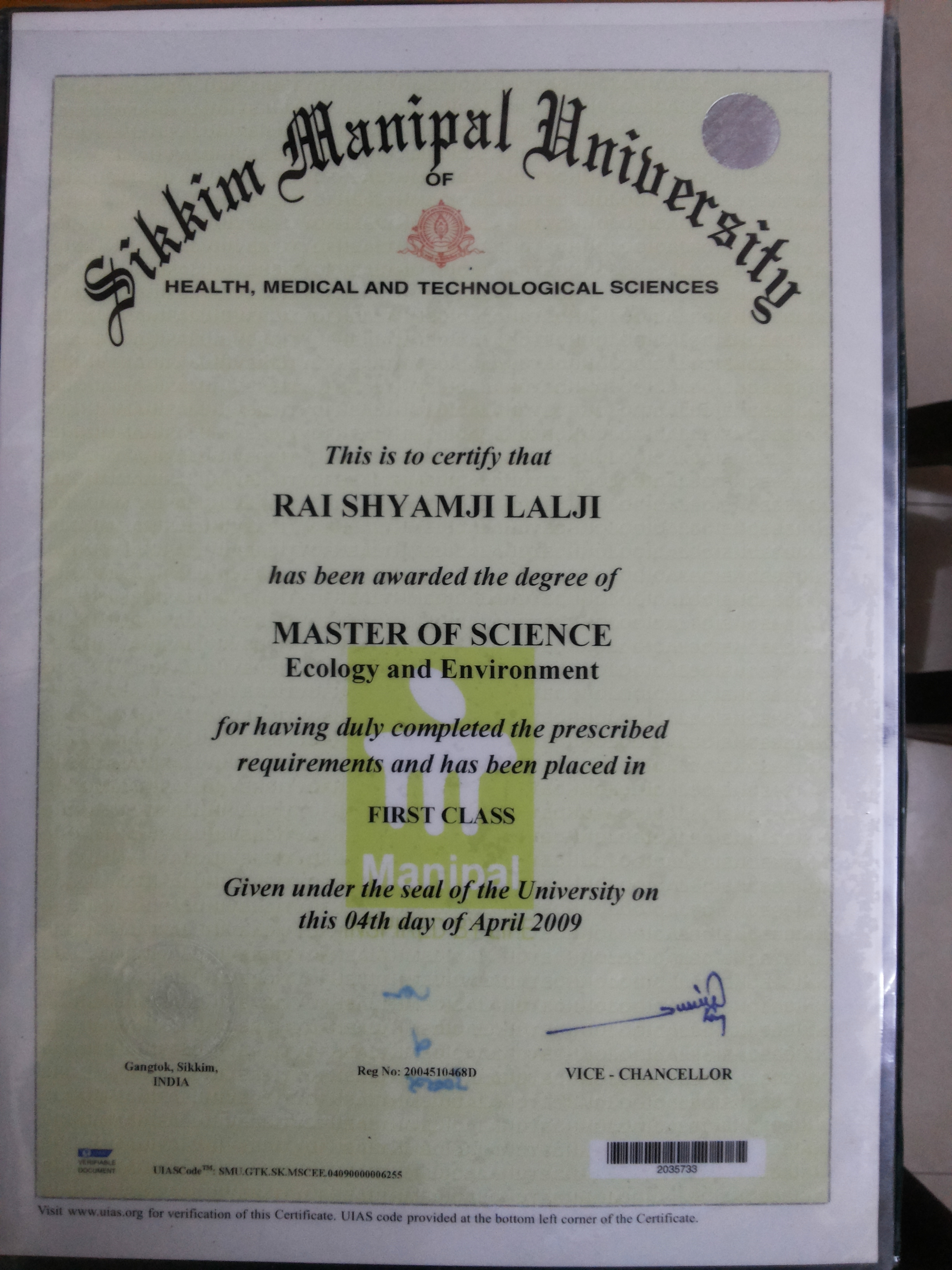Degree Certificates | Sure Cure Forever